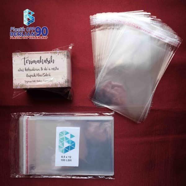 Plastik OPP 8,5 X 12 CM KW1 100LBR Lem Atau Seal1