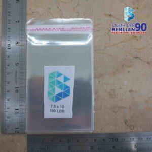 Plastik OPP 7,5 X 10 CM (SEAL/LEM) 20MIC ASLI - 100LBR / ID CARD / KTP / ATM