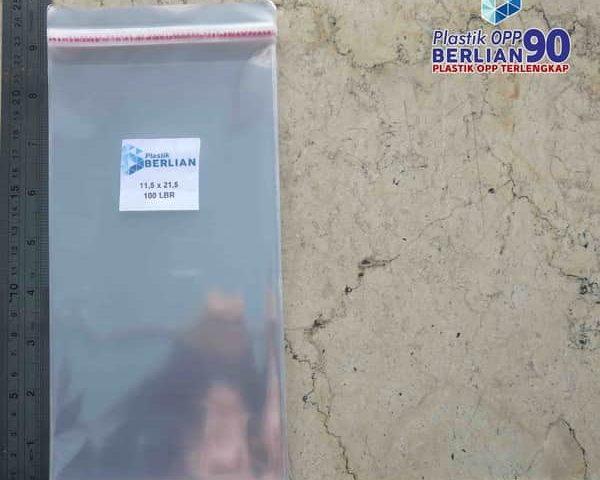 Plastik OPP 11,5 X 21,5 CM 18 MIC 100LBR / PLASTIK UNDANGAN
