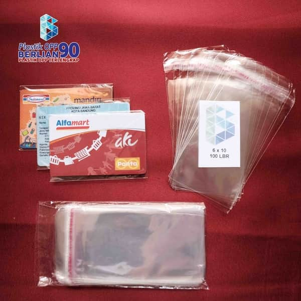 PLASTIK OPP 6 X 10 CM (SEAL/LEM) TEBAL 20 MIC ASLI / PLASTIK ID CARD / KTP 1
